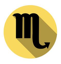 Scorpio sign   flat black icon vector