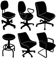 Office chair silhouette vector