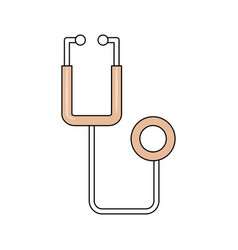 Stethoscope medical isolated vector