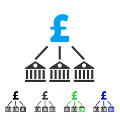 Bank pound expenses flat icon vector