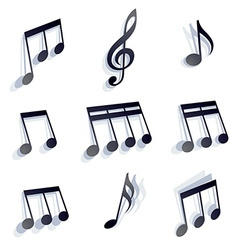 Musical notes set vector