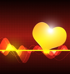 Cardiography scanning heart background vector