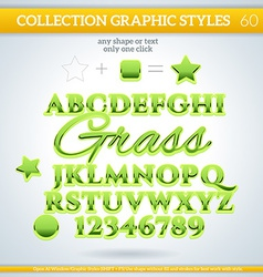 Grass graphic style for design vector