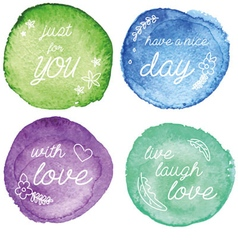 The set of water color signs vector