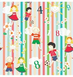 Children playing background vector