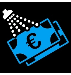 Euro money laundry icon vector