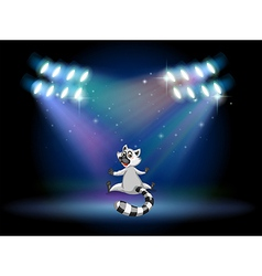 A lemur in the middle of the stage vector image vector image