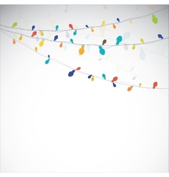 Absract light garland vector image vector image