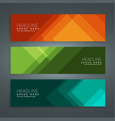 Abstract colorful set of banners vector