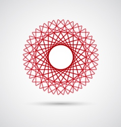 Abstract wireframe geometric elements icon vector