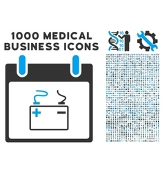 Accumulator calendar day icon with 1000 medical vector