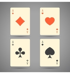 Aces playing cards set of ace playing vector