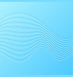 Bright blue abstract concept wavy lines background vector