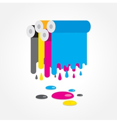 cmyk print colored roll vector image