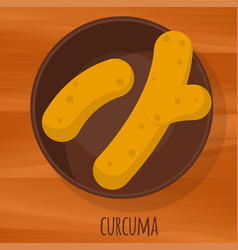 Curcuma flat design icon vector