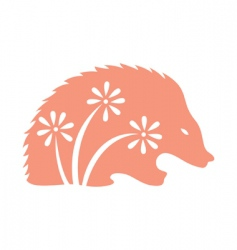 decorative porcupine vector image vector image