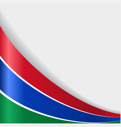 gambian flag background vector image vector image
