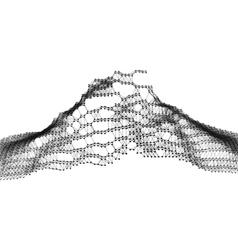 Geometric mountain landscape terrain background vector