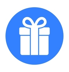 Gift icon of for web and vector image vector image
