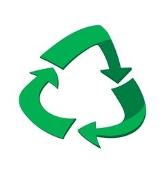 Green circular arrows cartoon icon vector image vector image