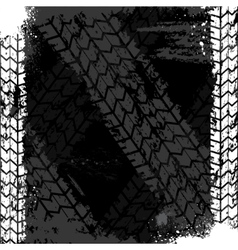Grunge tire track backgound vector image vector image