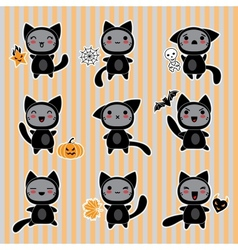Halloween Cartoon Cat Character vector image vector image