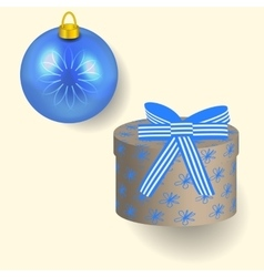 In blue colors christmas gift vector