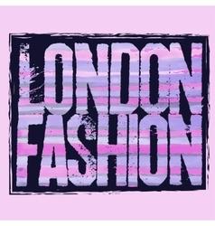 London city Typography t-shirt vector image