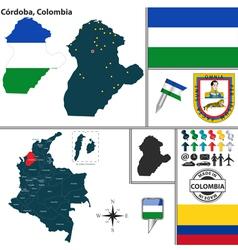 Map of cordoba vector
