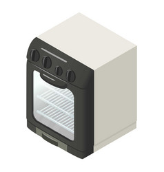 Modern gas oven icon isometric style vector
