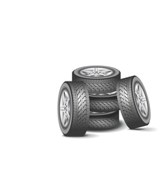 Modern wheel vector image vector image
