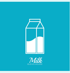 Paper bag with milk vector