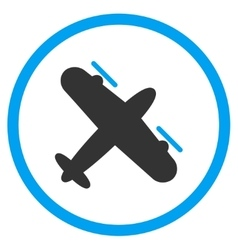 Propeller Aircraft Circled Icon vector image vector image