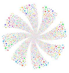 Refresh fireworks swirl flower vector