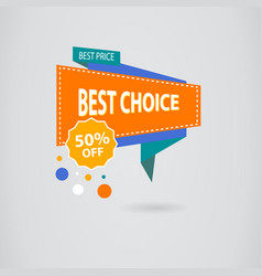 Sale banner design colored banner for promotion vector