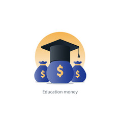 Scholarship grant money education fee icon payment vector