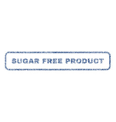 Sugar free product textile stamp vector