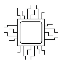 computer processor isolated icon design vector image
