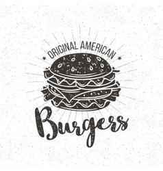 badge burger vector image