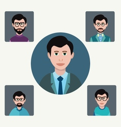 Man characters in flat style design elements vector