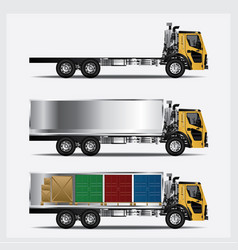 Cargo trucks transportation isolated vector