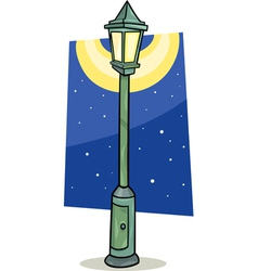 Streetlight lantern cartoon vector