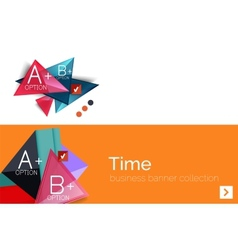 Infographic flat design banner with geometric vector