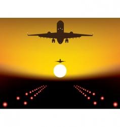 landing plane vector image