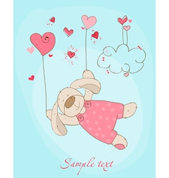 romantic love card vector image
