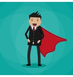 Super Businessman in suit vector image