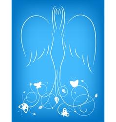 ornamental angel vector image