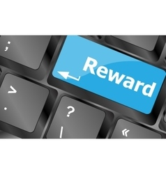Rewards keyboard keys showing payoff or roi vector image