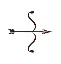 Bow and arrow vintage decorative royal luxury vector