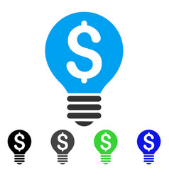 Business patent bulb flat icon vector